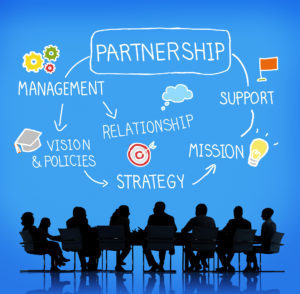 Partnership Company Support Team Organization Concept